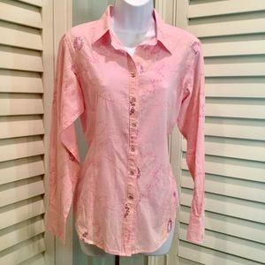 Ariat Western Floral Stitched Shirt, M, EUC